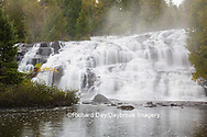 64797-00606 Bond Falls in fall, Ontonagon County, MI