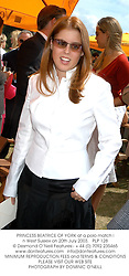 PRINCESS BEATRICE OF YORK at a polo match in West Sussex on 20th July 2003.PLP 128