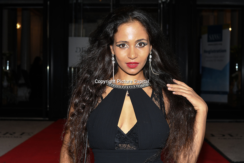 Jahna Sebastian attend Fashions Finest SS19 at London Fashion Week Day 2, De Vere Grand Connaught Rooms, London, UK. 16 September 2018.