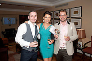 MARK HAMMERTON; DANNII MINOGUE; TERRY RONALD, Terry Ronald - book launch party for his book ' Becoming Nancy' . The Westbury Hotel, Pine Room, Bond Street, London, W1S 2YF<br /> -DO NOT ARCHIVE-© Copyright Photograph by Dafydd Jones. 248 Clapham Rd. London SW9 0PZ. Tel 0207 820 0771. www.dafjones.com.