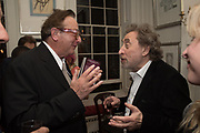 LORD MAURICE SAATCHI; HOWARD JACOBSON , The launch of Fire Child by Sally Emerson. Hosted by Sally Emerson and Naim Attalah CBE. Dean St. London. 22 March 2017