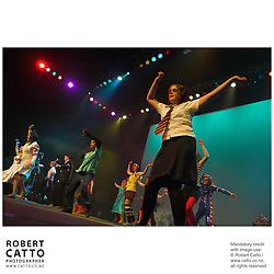 Students perform at the Subway Stage Challenge 2006, at Wellington's Events Centre.  Groups of up to 120, from schools throughout the region create their own costumes, scenery, and choreography.