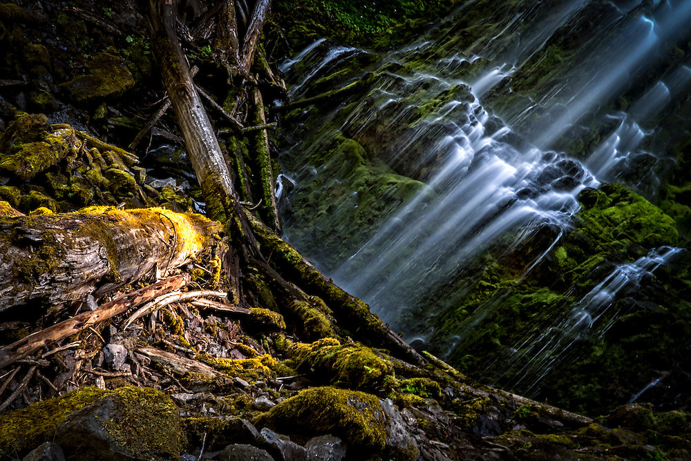 Proxy Falls located in Three Sisters Wilderness in Oregon.  The trails to the waterfall are easy enough for a family hike.