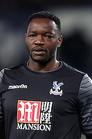LONDON, ENGLAND - AUGUST 23:  Goalkeeper Steve Mandanda of Crystal Palace in action during the EFL Cup Second Round match between Crystal Palace and Blackpool at Selhurst Park on August 23, 2016 in London, England.  (Photo by Christopher Lee/Getty Images)