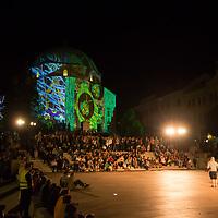 Zsolnay Light Festival held in central Pecs, Hungary on June 30, 2018. ATTILA VOLGYI