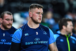 Leinster's Andrew Porter during the pre match warm up<br /> <br /> Photographer Craig Thomas/Replay Images<br /> <br /> Guinness PRO14 Round 18 - Ospreys v Leinster - Saturday 24th March 2018 - Liberty Stadium - Swansea<br /> <br /> World Copyright © Replay Images . All rights reserved. info@replayimages.co.uk - http://replayimages.co.uk