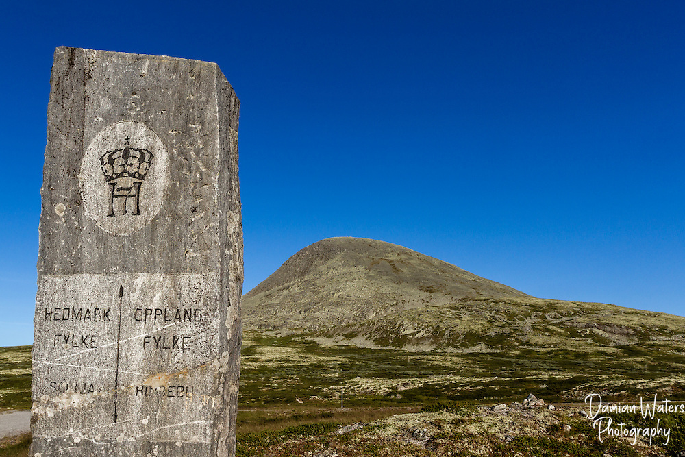 Hedmark and Oppland border marker, Norway - August