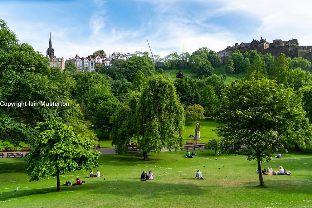 Princes Street Gardens in Edinburgh , Scotland, UK