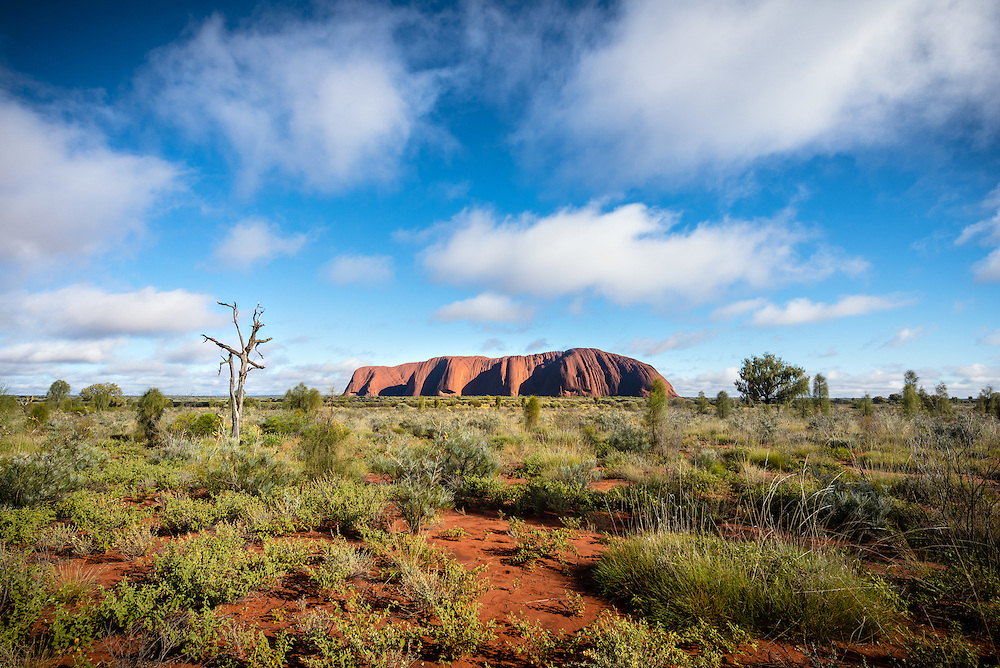 Clouds over Uluru in early morning