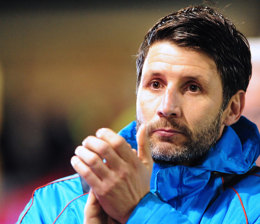 Lincoln City manager Danny Cowley <br /> <br /> Photographer Andrew Vaughan/CameraSport<br /> <br /> Emirates FA Cup Third Round Replay - Lincoln City v Ipswich Town - Tuesday 17th January 2017 - Sincil Bank - Lincoln<br />  <br /> World Copyright © 2017 CameraSport. All rights reserved. 43 Linden Ave. Countesthorpe. Leicester. England. LE8 5PG - Tel: +44 (0) 116 277 4147 - admin@camerasport.com - www.camerasport.com