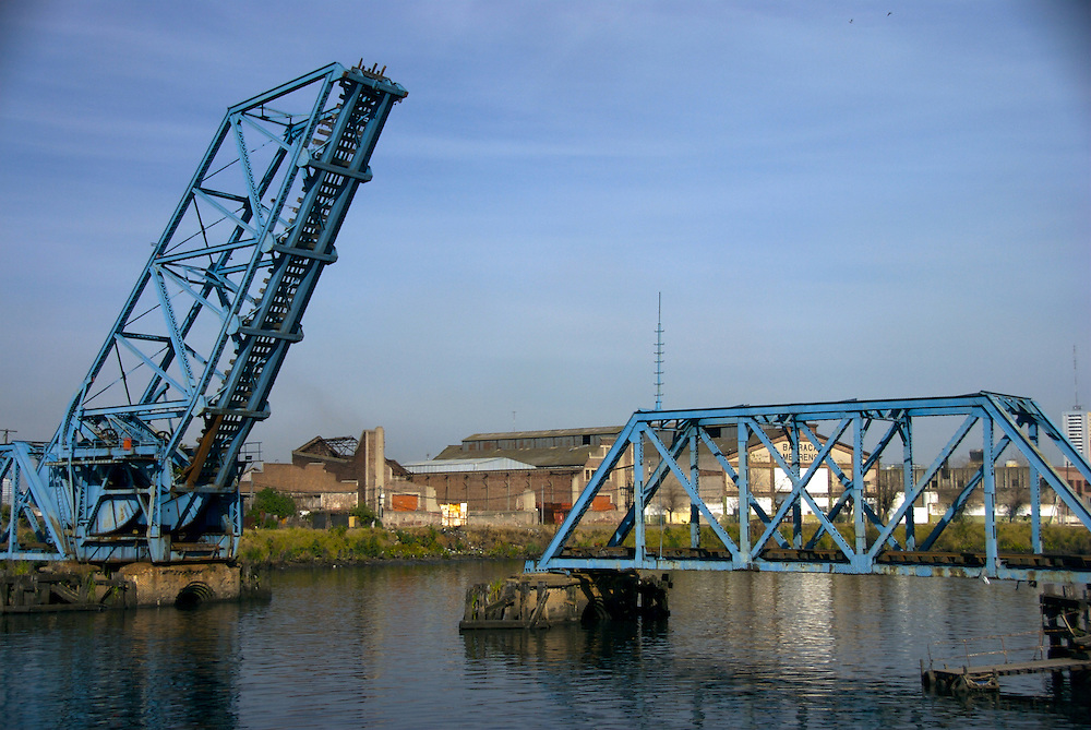 Old Bridge used for Trainways crossing from Capital Federal to Avellaneda over Riachuelo, in Buenos Aires, Argentina.