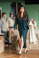 """Antonia """"Toni"""" Marston played by Alana Persson during dress rehearsal for """"And Then There Were None...."""" at Laconia High School Wednesday evening.  (Karen Bobotas/for the Laconia Daily Sun)"""