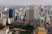Sao Paulo_SP, Brasil...Imagem aerea de Sao Paulo com destaque para a Catedral da Se na Praca da Se...Sao Paulo aerial view. In this photo the Se Cathedral in the Se square...Foto: MARCUS DESIMONI / NITRO