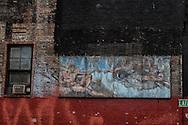 New York. bilboard in Bowery  New York - United states  / affiche publicitaire quartier de Bowery  New York - Etats-unis