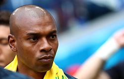 Brazil's Fernandinho starts the game on the bench