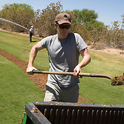 A day in the life of the groundscrew at Grayhawk Golf Club in Scottsdale, Arizona reveals that the immigrant workforce arrives by 5am to prepare and tend to the greens, fairways and bunkers. Please contact Todd Bigelow directly with your licensing requests.