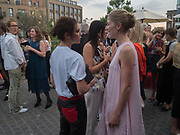 VICTORIA BECKHAM; EMILY SHEFFIELD; ; ROSAMUND PIKE, Alex Shulman goodbye party. Dock Kitchen, Ladbroke Grove. London. 22 June 2017
