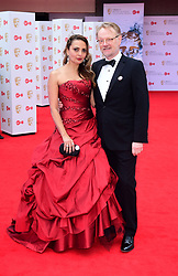 Jared Harris and Allegra Riggio arriving for the Virgin TV British Academy Television Awards 2017 held at Festival Hall at Southbank Centre, London.