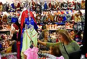 Clothes shopping at Paddy's Market, Sydney, Australia