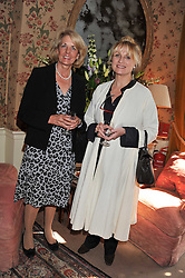 Left to right, HENRIETTA ST.GEORGE and ARRELLE VON HUNTER at a lunch in aid of the charity Kids Company held at Mark's Club, 46 Charles Street, London on 3rd October 2011.