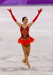 February 12, 2018 - Gangneung, South Korea - Alina Zagitova of Olympic Athlete from Russia compete during the Team Event Ladies Single Skating FS at the PyeongChang 2018 Winter Olympic Games at Gangneung Ice Arena on Monday February 12, 2018. (Credit Image: © Paul Kitagaki Jr. via ZUMA Wire)