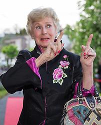 """08.05.2015, Schlosshotel Velden, Velden, AUT, 25 Jahre, Ein Schloss am Wörthersee, Klassentreffen die Gala, im Bild Waltraud Haas // Waltraud Haas during the Gaka of Class reunion - 25th anniversary of tv series """"Ein Schloss am Wörthersee"""" at the Schlosshotel Velden, Austria on 2015/05/08. EXPA Pictures © 2015, PhotoCredit: EXPA/ Johann Groder"""