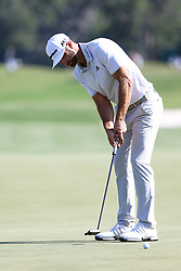 May 11, 2017 - Ponte Vedra Beach, Florida, United States - Dustin Johnson putts the 12th green during the first round of The PLAYERS Championship at TPC Sawgrass. (Credit Image: © Debby Wong via ZUMA Wire)
