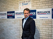 17 MAY 2019 - NEWTON, IOWA:  Governor STEVE BULLOCK (D-MT) waits to speak at a campaign event in Newton. Gov. Bullock joined a crowded field of Democrats vying to be the party's Presidential nominee in 2020. Iowa traditionally hosts the the first election event of the presidential election cycle. The Iowa Caucuses will be on Feb. 3, 2020.                      PHOTO BY JACK KURTZ