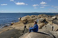 Granite shoreline near Peggy's Cove, Nova Scotia