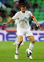 Fotball<br /> VM-kvalifisering<br /> 07.09.2012<br /> Slovenia v Sveits<br /> Foto: Gepa/Digitalsport<br /> NORWAY ONLY<br /> <br /> FIFA Weltmeisterschaft 2014 in Brasilien, Qualifikation, Laenderspiel, Slowenien vs Schweiz. Bild zeigt Bostjan Cesar (SLO).