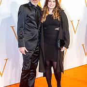 NLD/Katwijk/20151030 - 5 Jarig jubileumvoostelling musical Soldaat van Oranje, Rob Snoek en dochter Louise