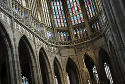 August 16, 2017 - Prague, Czech Republic - The Cathedral of St. Vitus is a temple dedicated to the catholic cult located in the city of Prague. Is the largest exhibition of Gothic art in the city. August 16, 2017. Czech Republi  (Credit Image: © Oscar Gonzalez/NurPhoto via ZUMA Press)