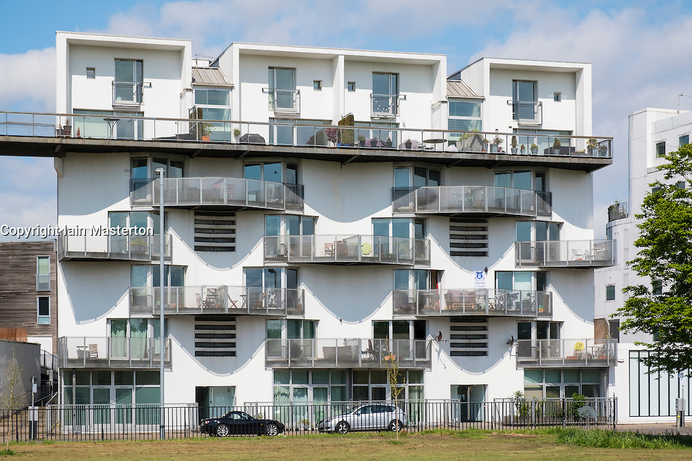 Homes For The Future development ; Modern new apartment buildings adjacent to Glasgow Green in Glasgow, Scotland,United Kingdom; Architect: Elder and Cannon