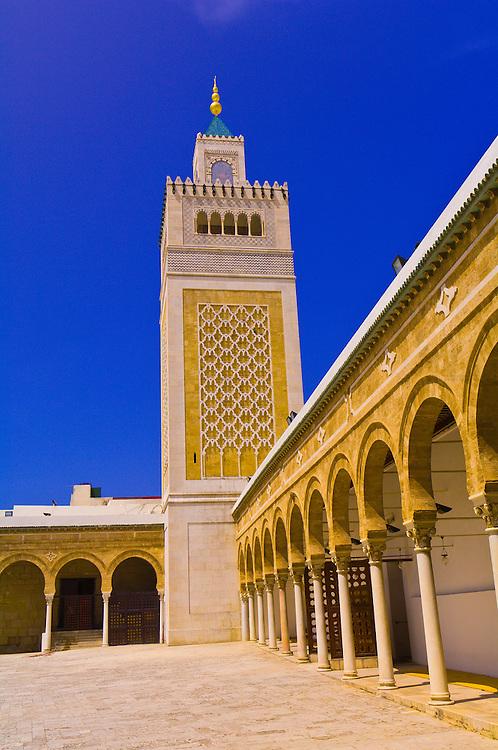 Mosque of the Zitouna, Aghlabid Ez-Zitouna Mosque, Tunis, Tunisia