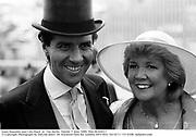 Louis Basualdo and Cilla Black  at  The Derby. Epsom. 5 June 1886. film 86400f27<br />© Copyright Photograph by Dafydd Jones<br />66 Stockwell Park Rd. London SW9 0DA<br />Tel 0171 733 0108  dafjones.com