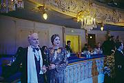 St Petersburg, Russia, 01/01/2003.New Year Ball in the Mariinski Theatre, home of the Kirov Opera & Ballet.