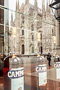 Milan, bar Camparino overlooking Piazza del Duomo