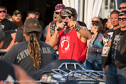 Jay Allen MC'd the events at the Broken Spoke Saloon during Laconia Motorcycle Week 2016. Laconia, NH, USA. Wednesday, June 15, 2016.  Photography ©2016 Michael Lichter.