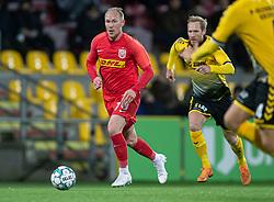 Mikkel Rygaard (FC Nordsjælland) under kampen i 3F Superligaen mellem FC Nordsjælland og AC Horsens den 19. februar 2020 i Right to Dream Park, Farum (Foto: Claus Birch).