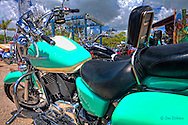 A great looking bike at Cortez Kitchen in the fishing village of Cortez.