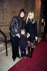 DAN HIPGRAVE, his daughter HONEY (his daughter with Gail Porter) and his LYNSEY HORN at the Cirque du Soleil's gala premier of Quidam held at the Royal Albert Hall, London on 6th January 2009
