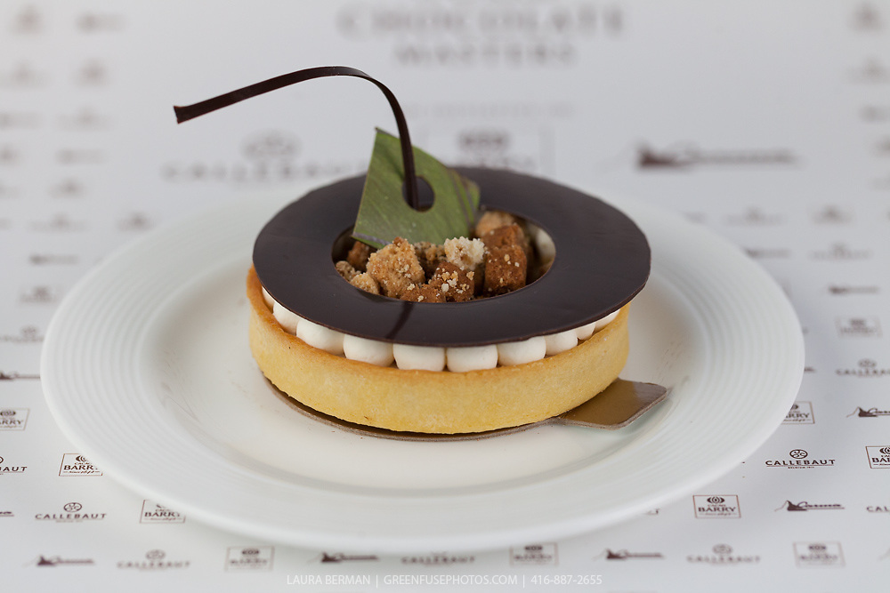 """Olivier Tribut's Classic Dessert Revisited """"Tarte au Sucre"""". World Chocolate Masters Canadian Selection, January 20, 2013."""