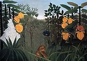 The Snake Charmer' 1907:  Henri Rousseau (Le Douanier)  1844-1910, French Primitive painter . Oil on canvas.