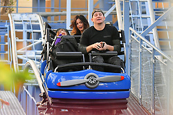EXCLUSIVE: Channing Tatum and his wife Jenna Dewan take their daughter Everly out on a fun day at Disneyland. The family, joined by a VIP tour guide, were seen having a blast as they rode some rides at California adventure including toy story mania, The golden Zephyr, Goofy's sky school and the little mermaid ride. Jenna was seen having a blast dancing along to the music of a parade and even cuddled up to her husband and gave him a kiss. She and her daughter Everly were seen getting their faces painted. 27 Dec 2017 Pictured: Channing Tatum, Jenna Dewan and Everly Tatum. Photo credit: Snorlax / MEGA TheMegaAgency.com +1 888 505 6342