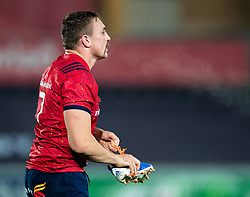 Jack O'Donoghue of Munster <br /> <br /> Photographer Simon King/Replay Images<br /> <br /> European Rugby Champions Cup Round 1 - Ospreys v Munster - Saturday 16th November 2019 - Liberty Stadium - Swansea<br /> <br /> World Copyright © Replay Images . All rights reserved. info@replayimages.co.uk - http://replayimages.co.uk