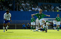 Photo: Andrew Unwin.<br />Northern Ireland v Azerbaijan. FIFA World Cup Qualifying match. 03/09/2005.<br />Northern Ireland's Steve Davis (R) squanders another good chance for his team to score.