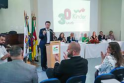 Porto Alegre, RS 30.10.2018: O prefeito, Nelson Marchezan Júnior, participou, na tarde desta terça-feira (30), do ato solene em Homenagem aos 30 anos da Kinder. Foto: Jefferson Bernardes/PMPA