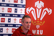 Wales coach Robert Howley speaks to the press during the Wales Rugby team announcement press conference at the Vale Resort, Hensol near Cardiff, South Wales on Wednesday 8th March 2017. The team are preparing for the the RBS Six nations match against Ireland.  pic by  Andrew Orchard, Andrew Orchard sports photography.
