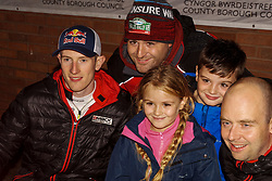October 26, 2017 - Deeside, Wales, United Kingdom - 3 lfyn Evans (GBR) of M-Sport greets fans prior to the Rally GB round of the 2017 FIA World Rally Championship. (Credit Image: © Hugh Peterswald/Pacific Press via ZUMA Wire)