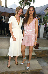 Left to right, ALICE TEMPERLEY and PADMA LAKSHMI at the annual Michele Watches Summer Party held in the gardens of Home House, 20 Portman Square, London W1 on 15th June 2006.<br /><br />NON EXCLUSIVE - WORLD RIGHTS